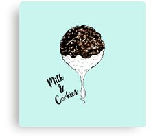 Cute Hand Drawn Foodie Cookies and Milk Canvas Print