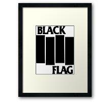 black flag logo Framed Print