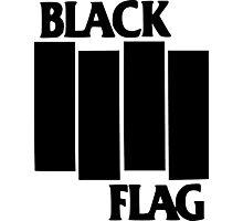 black flag logo Photographic Print