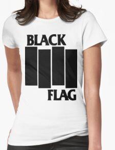 black flag logo Womens Fitted T-Shirt