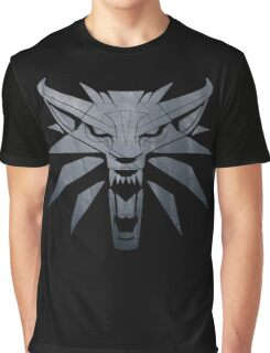Forest and Wolf Medallion Graphic T-Shirt