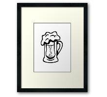Drinking beer thirst handle Framed Print