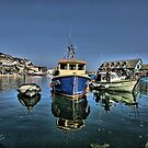 Boat in Mevagissey Harbour, Cornwall by LisaRoberts