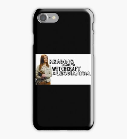 Reading leads to lesbianism iPhone Case/Skin