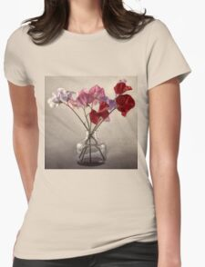 Sweet Peas in a bottle Womens Fitted T-Shirt