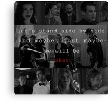 Shadowhunters - Side by side  Canvas Print