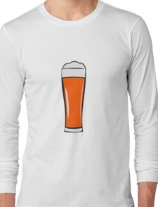 Beer drinking beer glass Long Sleeve T-Shirt