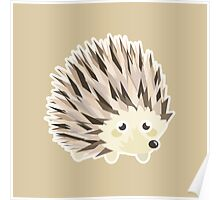 Kawaii Hedgehog Poster