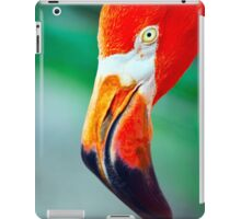 Super Red Close American Flamingo iPad Case/Skin