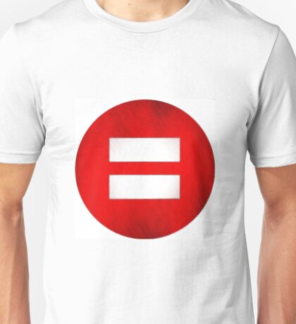 The Classic Equality symbol artistically rendered Unisex T-Shirt