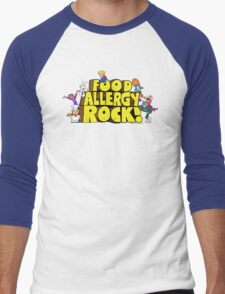 Food Allergy Rock ! Men's Baseball ¾ T-Shirt