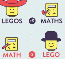 Lego and Maths Sticker