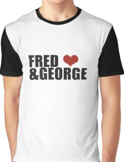 Fred and George Love  Graphic T-Shirt