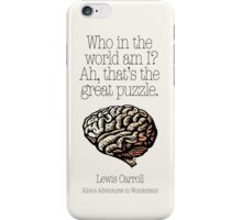 alice's adventures in wonderland iPhone Case/Skin