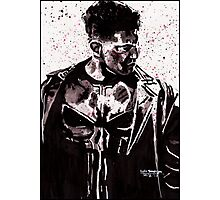 Punisher Ink Splatter Photographic Print