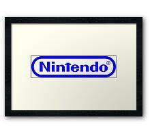 Blue Nintendo Logo Framed Print
