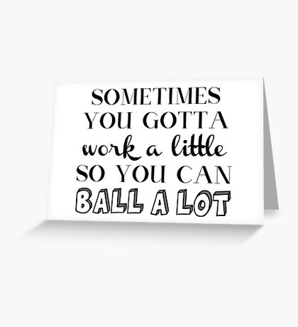 Parks and Rec Tom Haverford Quote Greeting Card