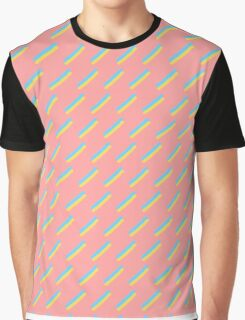 80's Pastel Brush Stroke Retro Graphic T-Shirt