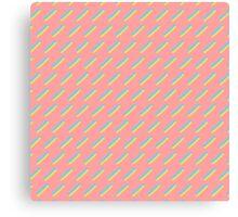 80's Pastel Brush Stroke Retro Canvas Print