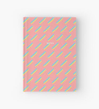 80's Pastel Brush Stroke Retro Hardcover Journal