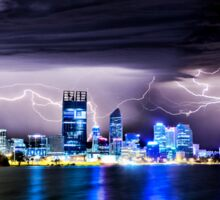 Perth Lightning Storm Sticker