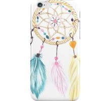 Bright watercolor boho dreamcatcher feathers iPhone Case/Skin