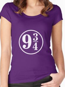 Peron 9 3/4 Harry Potter Women's Fitted Scoop T-Shirt