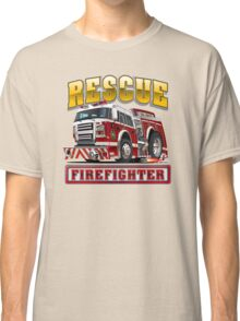 Cartoon Fire Truck Classic T-Shirt
