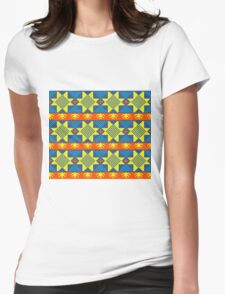 Ethnic design pattern. Russian traditional motive.  Womens Fitted T-Shirt