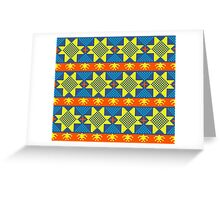 Ethnic design pattern. Russian traditional motive.  Greeting Card