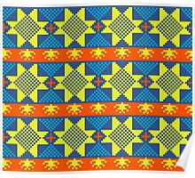 Ethnic design pattern. Russian traditional motive.  Poster