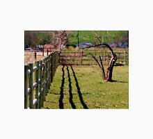 Fence, Shadow's, Tree. Unisex T-Shirt