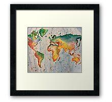 Rainbow map Framed Print