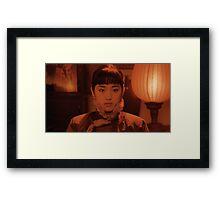 Gong Li - Raise the Red Lantern Framed Print