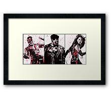 Daredevil Ink Splatter Collection Framed Print