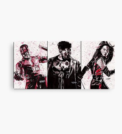 Daredevil Ink Splatter Collection Canvas Print