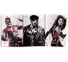 Daredevil Ink Splatter Collection Poster
