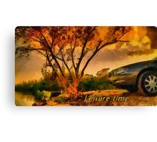 Leisure time Canvas Print