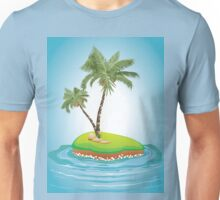 Palm Tree on Island Unisex T-Shirt