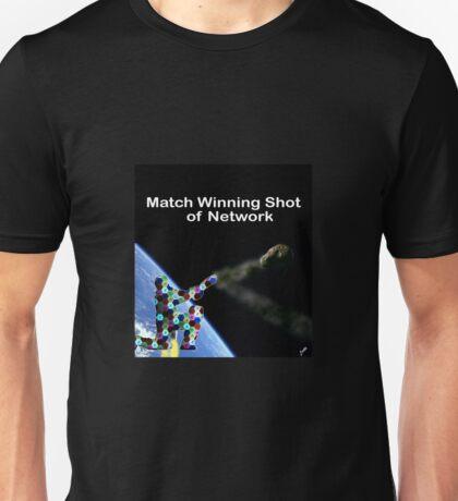 Match winning shot of Network Unisex T-Shirt