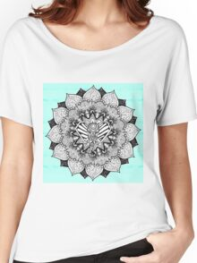 Boho Tangle Elephant and Hand Drawn Mandala Women's Relaxed Fit T-Shirt