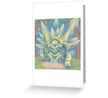 Spikey Shield_painted Greeting Card