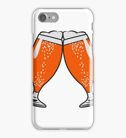 toast drink beer glass of beer iPhone Case/Skin