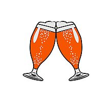 toast drink beer glass of beer Photographic Print