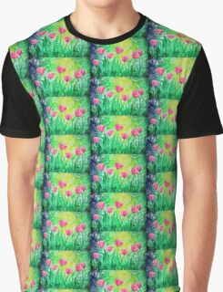 Dancing Tulips by Jan Marvin Graphic T-Shirt