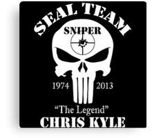 The legend chris kyle,seal team sniper Canvas Print