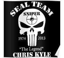 The legend chris kyle,seal team sniper Poster