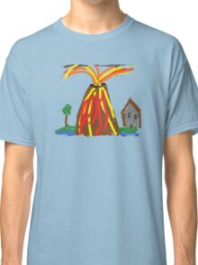Volcano & House by Xander Classic T-Shirt