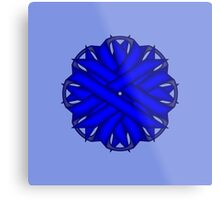 Blue Flower Ribbon Metal Print