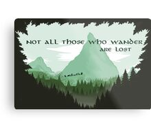 Firewatch Lord of the Rings Tokien Quote Green Metal Print